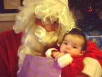 Madison with Papa Noel