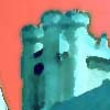 thumbnail link to picture of castle, altered colour balance.